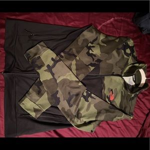 Camouflage North Face Zip-up Jacket